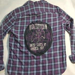 Led Zeppelin patched flannel